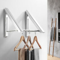 Punch-free Wall Mounted Clothes Coat Hook Holder Rack Space Hanger Hanging Decor