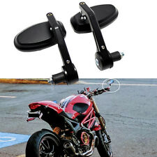 "Motorcycle 7/8"" 22mm Handle Bar End Side Mirror For Ducati Monster Streetfighter"
