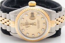 DIAL ONLY 26mm FACTORY LADIES ROLEX DATEJUST CHAMPAGNE DIAMOND DIAL ONLY