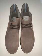 FERRAGAMO Brown Desert Boots | 10.5 Men's Suede Leather Ankle Fashion Casual