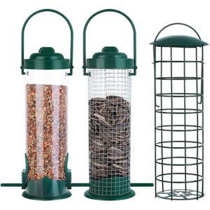 Wild Bird Hanging Seed Feeder Peanut Feed Fat Ball Feeders Garden Bi.ji