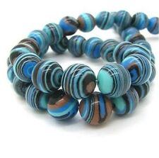 "8mm Blue Synthetic Gemstone Malachite Beads Fashion Loose Beads 15""AAA+08"