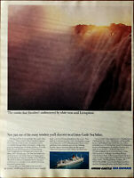 Union Castle Sea Cruises The Smoke That Thunders' Vintage Advertisement 1965