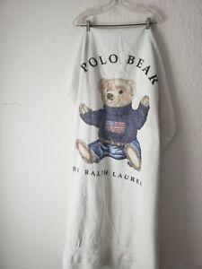 Polo Bear USA White Beach Pool Bath Towel