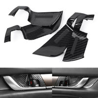 Carbon Fiber Style Interior Inner Door Handle Bowl Cover For Honda Accord 2018