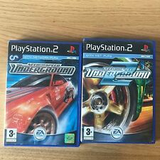 Need For Speed Underground PS2 PlayStation 2 Game Bundle x2 | EA Street Racing