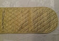 Table Runner Gold/Silver Fabric Reversible quilted Holiday Decor Vintage