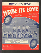 MAYBE IT'S LOVE 1930 All American College Football JOE E BROWN Sheet Music Q19