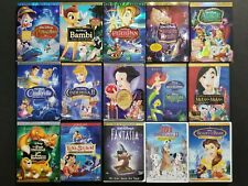 Disney DVD Lot: Pinocchio Bambi Peter Pan Cinderella Snow White Little Mermaid