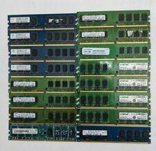 Lot of 16 - Assorted 2GB DDR2 Desktop RAM, Details in Description  - TL0625