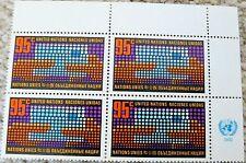 UN NY #226 1972 95 Cent Regular Issue Inscription Block of 4 MNH
