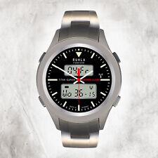 Herren Funkuhr Silber 22-17am Titan-armband Uru2217am Ruhla