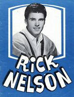 "RICK NELSON 1961 ""RICK IS 21"" U.S. TOUR CONCERT PROGRAM BOOK BOOKLET-VG 2 NMT"