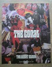 THE CORAL - DEBUT ALBUM - 2002 - MUSIC NME PRESS ADVERT 13 X 11 in