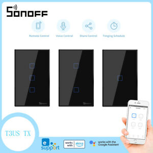 Sonoff T3 US Smart Home Wall Light Switch Touch RF Wifi Voice APP Remote Control