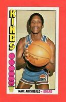 1976-77  TOPPS  # 20 Nate Archibald  nrmnt+