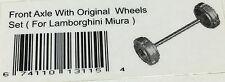 Autoart front axle Wheels coches Lamborghini Miura eje llantas de repuesto parte