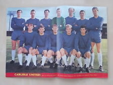 FOOTBALL MONTHLY MAGAZINE JANUARY 1967 - CARLISLE UNITED TEAM PHOTOGRAPH