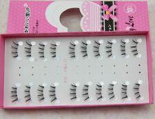 NEW Beauty10 pairs / lot HALF MINI CORNER  False eyelashes Cross Fake eye lashes