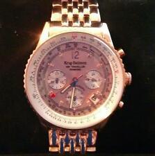 Diamond Watch Breitling Aviator style Rose Gold with paperwork genuine diamonds
