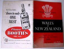 More details for wales v new zealand (score 13 - 8) 1953 international programme.
