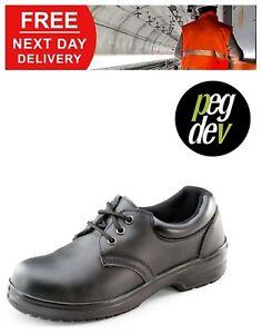 SAFETY FOOTWEAR WORKWEAR BLACK LADIES TIE SHOE SIZES 2-7 HGCF13BLBS