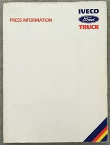 IVECO FORD TRUCKS Press Information Pack OCT 1986