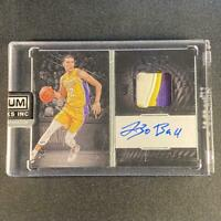 LONZO BALL 2017 PANINI NOIR #350 3-COLOR PATCH AUTO ROOKIE RC #'D 54/99 NBA