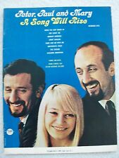Peter Paul May A Song Will Rise Recorded Songs Voice Piano Guitar Unmarked