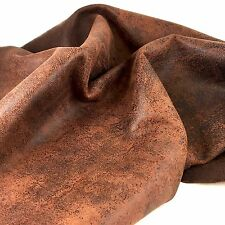 Springfield Leather Co. DISTRESSED BROWN Suede Buffalo Leather 5 sqft 4oz