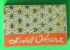 Vintage Match Box Hotel Okura Tokyo Japan 1B E VG