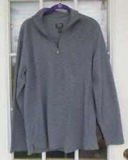 NWOT Joseph Abboud Mens M Long Sleeve 1/4 Zip Sweater Shirt, Gray