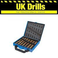 HSS METAL DRILL BIT SETS - 19pc 21pc 25pc 29pc 41p 50pc 99pc 170piece COBALT/TIN
