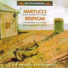 EZ NOVO ENSEMBLE MARTUCCI RESPIGHI : PIANO QUINTET IN C MAJOR WIND QUINTET CD