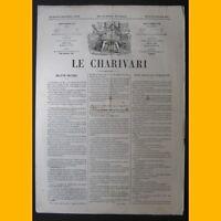 Journal LE CHARIVARI dessins de Paf  22 janvier 1874