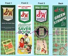 3 Lot- S&H BOOKMARKS GREEN STAMPS Vintage fun ART LOOK Retro Book Mark NOSTALGIA