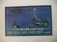 advertising Pubblicità 1988 MOTO BMW K100 K 100 RS