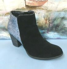 Wanted Womens Size 8 Black Heels Suede Ankle Boots