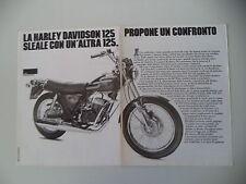 advertising Pubblicità 1978 MOTO AMF HARLEY DAVIDSON SST 125