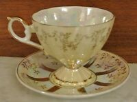 Vintage  Lusterware Royal Crown Original ARNART Creations Cup and Saucer