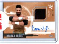 WWE Darren Young 2017 Topps Undisputed Bronze Autograph Relic Card SN 67 of 99