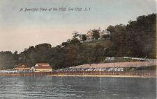 c.1910 Homes on Cliff Boathouses Dock Harbor Sea Cliff LI NY post card