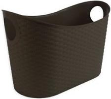 Large Storage Basket Rattan Basket Stackable With Handles Laundry Basket 60×36cm