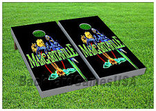 Margaritaville CORNHOLE BEANBAG TOSS GAME w Bags Game Boards Tropical Buffet 957