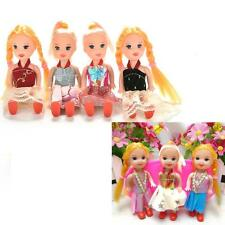 Interesting 5 Joints Dolls with Clothes Dress Shoes Wig for Kelly Barbie Doll ^