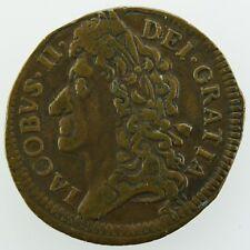 1689 September James II Shilling Gunmoney Ireland Civil War Coin
