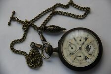 Pocket Watch with chain Antique Goliath Day/Date/Month & Moonphases