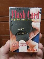 FLASH CARD 28 minuti REGISTRATORE AUDIO VOICE RECORDER Aurora VR 1400 MEMORIA