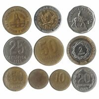 10 COINS FROM ARGENTINA OLD COLLECTIBLE COINS SOUTH AMERICA ARGENTINE PESOS