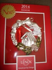 Lenox 2014 Annual Bless This Home Metal Ornament 3.5 Inches Tall 846953